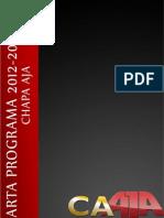 Carta Programa - Chapa AJA! 2012-2013