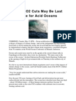 Deep CO2 Cuts May Be Last Hope for Acid Oceans