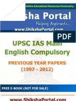 E Book IAS Main English Compulsory Papers Year 1997 2012