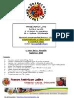 Lettre Mensuelle FAL Marseille Octobre 2012