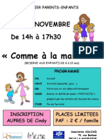 Affiche Comme à la maison 6 Novembre 2012