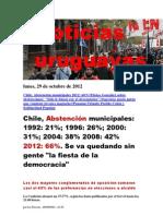 Noticias Uruguayas Lunes 29 Octubre Del 2012