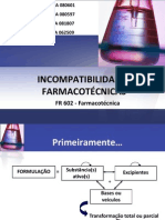 Incompatibilidades farmacotécnicas final