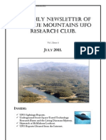 The Blue Mountains UFO Research Club Newsletter - July 2011