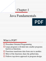 Chapter 1 Fundamentals of JAVA