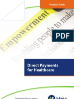 Direct Payments for Healthcare, HFMA, 2012
