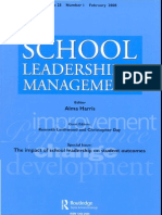 PS School Leadership and Mgmt F20080001