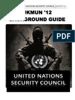 Background Guide UNSC JKMUN'12