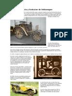 Historia y Evolucion de Volkswagen