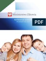 Prezentacja ministerstwa zdrowia dotycząca finansowania in vitro
