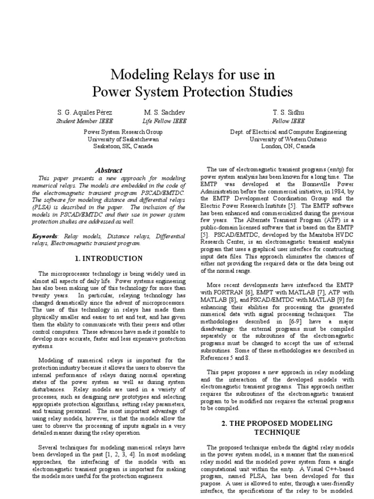 Modeling Relays Analog To Digital Converter Relay Electrical Life