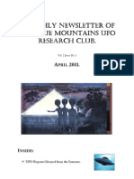 The Blue Mountains UFO Research Club Newsletter - April 2011