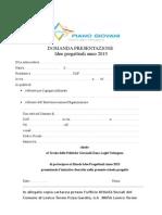 Domanda presentazioneprogetti 2013def