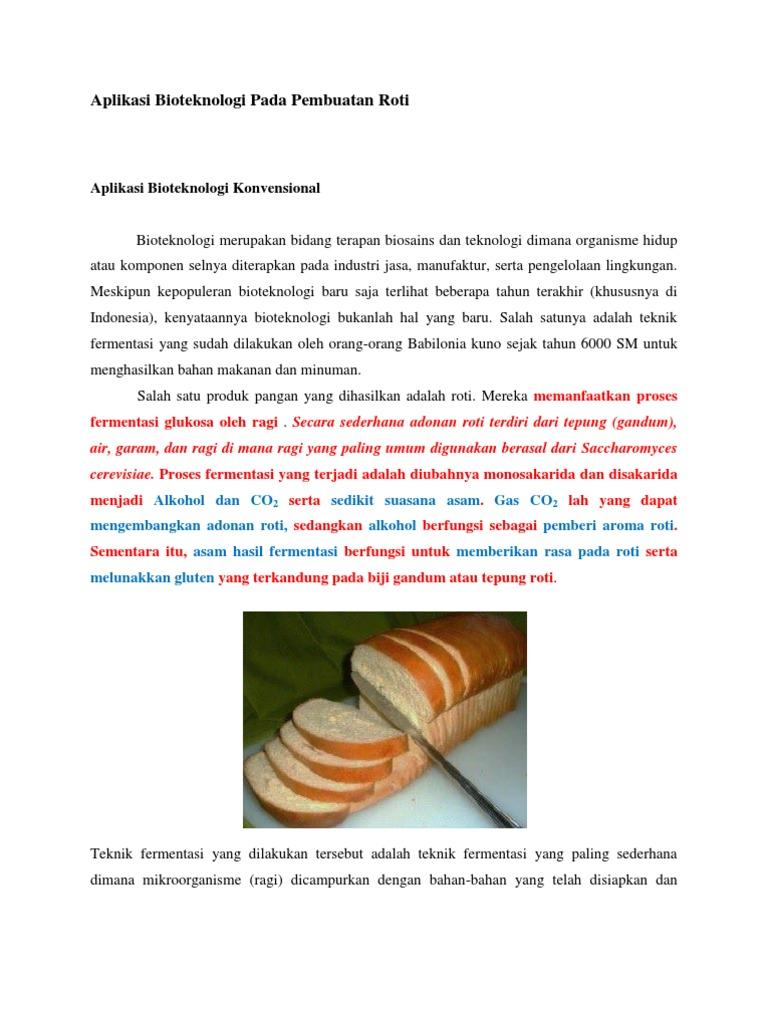 Aplikasi Bioteknologi Pada Pembuatan Roti