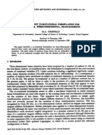A Consistent Co-rotational Formulation for Non-linear, Three-dimensional, Beam-elements