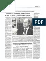 Entrevista a Villacampa (Diario de Teruel 281012)