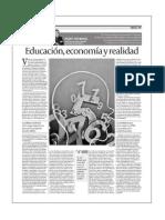 Educación, economía y realidad
