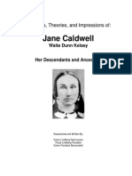 Jane Caldwell, Thoughts and Theories and Impressions