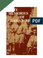 MY MEMORIES OF BAHÁ'U'LLÁH