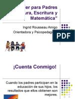 Taller de Padres Lectura, escritura y matemáticas