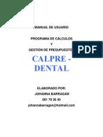 Manual de Usuario Dental