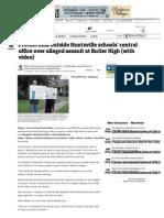 Protest held outside Huntsville schools/ central office over alleged assault at Butler High School
