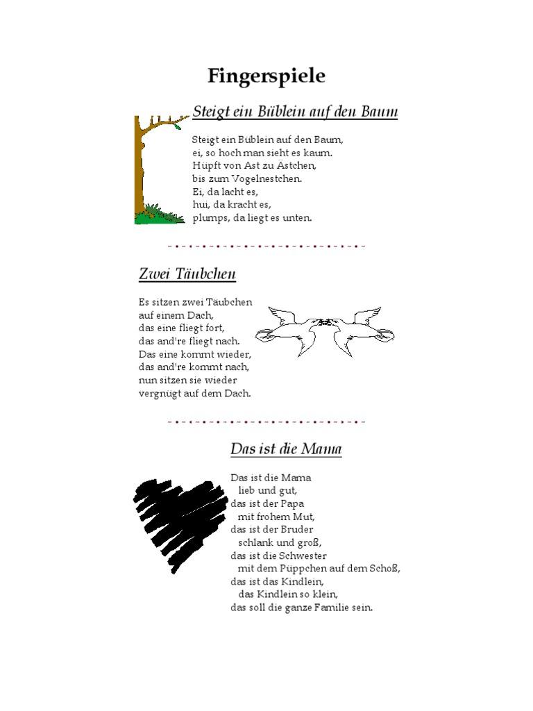 Zehn kleine fingerlein lied