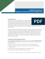 Certification in Hospice and palliative medicine-American Board Of Internal Medicine