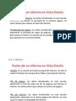 Partes de un informe en Vista Diseño