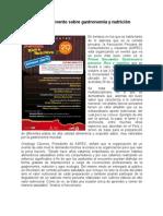 NOTA DE PRENSA. Evento gastronómico (23.10.12)