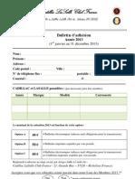 Bulletin adhésion 2013