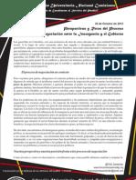 Perspectivas y Retos del Proceso de Negociación entre la Insurgencia y el Gobierno