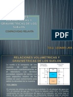 RELACIONES VOLUMÉTRICAS Y GRAVIMÉTRICAS DE LOS SUELOS