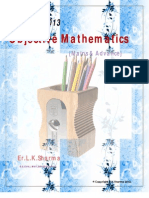 OBJECTIVE MATHEMATICS for IIT-JEE {Mains/Advance}