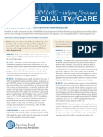 ABIM MOC – Helping Physicians - IMPROVE QUALITY CARE