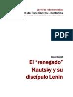 """El """"renegado"""" Kautsky y su discípulo Lenin - Jean Barrot"""
