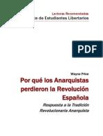 Por qué los Anarquistas perdieron la Revolución Española