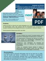 Educação na Saúde sem Ambiente Virtual de Aprendizagem