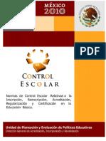 Norma Control Escolar 2010 2011