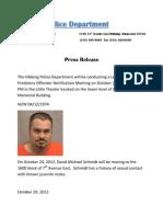 Press Release Schmidt