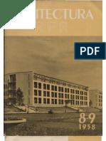 """Arhitectura R.P.R"". nr. 8-9/1958 (august-septembrie)"