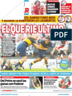 La edición impresa de Diario Popular (29/10/2012)