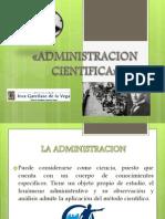 Diapositivs de Administracion Cientifca