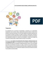 Los valores en la prevención de las drogas y embarazo precoz en su proyecto de vida