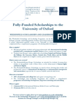 Flyer - Oxford Scholarship