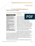 How Cisco IT Uses SAP BWA Appliance to Improve Pipeline Visibility