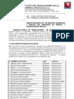 Carta de Afilicion Para Ministerio