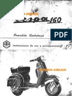 Manual de propietario Vespa 160
