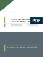 TÉCNICAS DE IMPRESIÓN Y CONFECCIÓN DE CUBETAS
