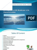 Development of RO Membrane & Its Characterization2003.ppt